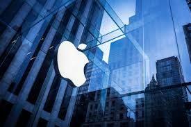 壁面のAppleマーク