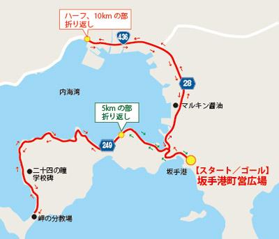 オリーブマラソンコース図