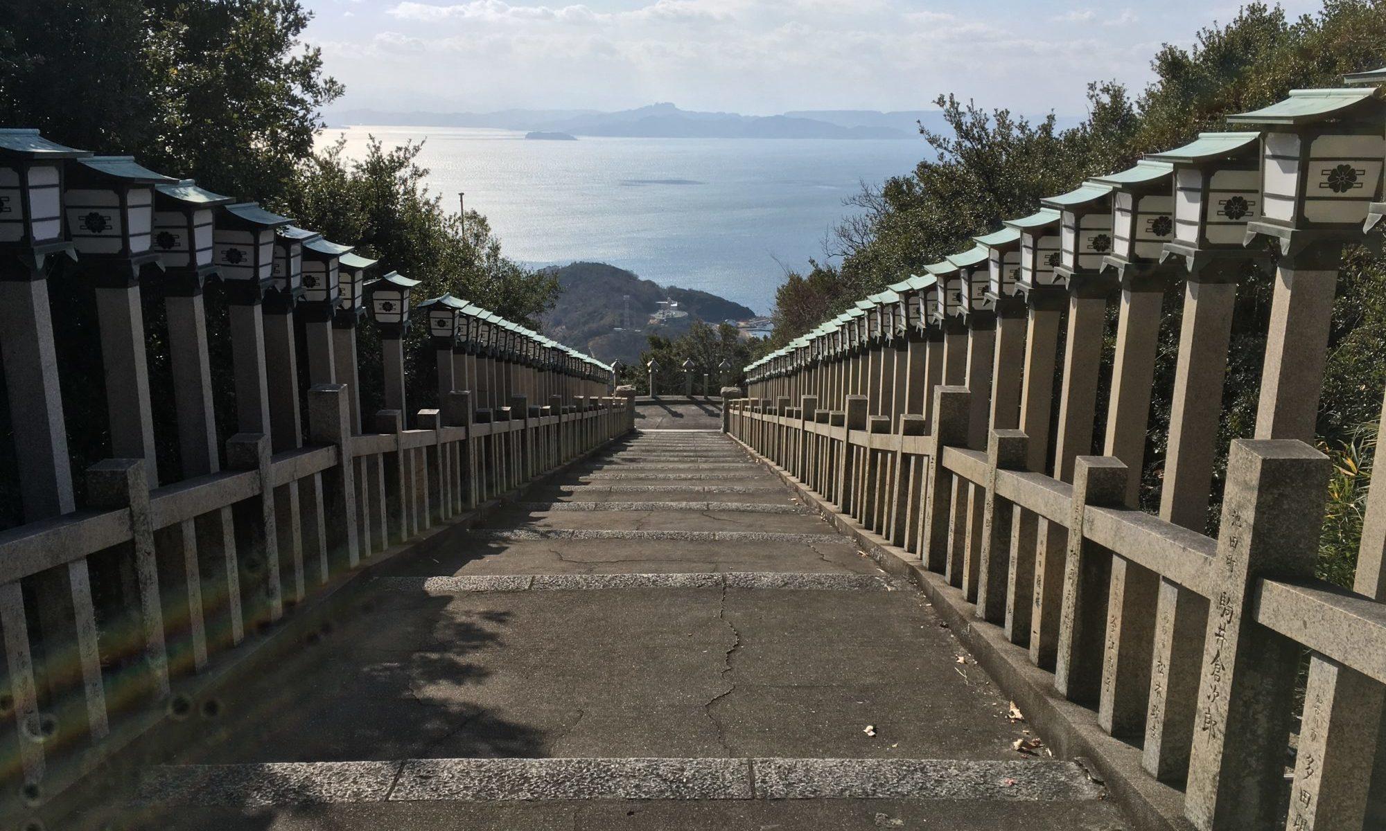 西之滝の石段